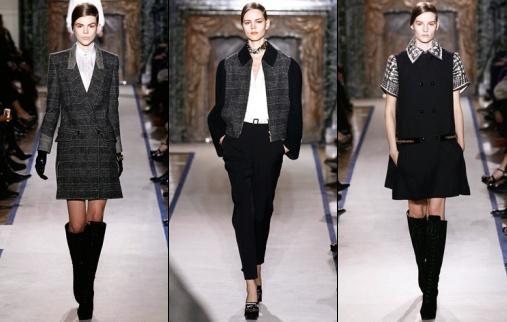 d fil yves saint laurent automne hiver 2011 2012 tendances de mode. Black Bedroom Furniture Sets. Home Design Ideas