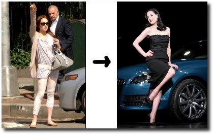 Lindsay Lohan et Dita Von Teese