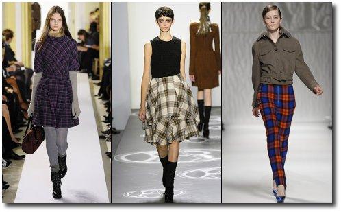 Les carreaux, pantalons, jupes...