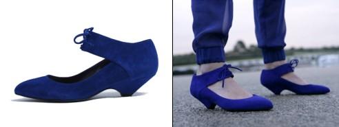 Escarpins bleu Klein Scorah Pattullo