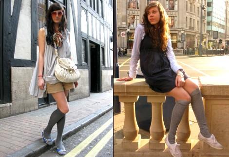 chaussettes hautes t 2008 tendances de mode. Black Bedroom Furniture Sets. Home Design Ideas