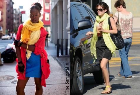 Le foulard oversize