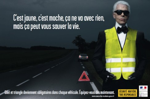 Karl Lagerfeld pour la s�curit� routi�re