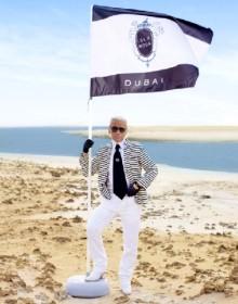 Karl Lagerfeld sur l'Isla Moda