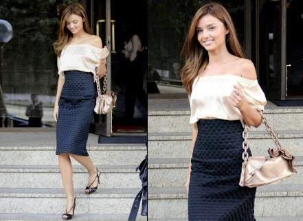 miranda kerr - look néo chic - tendances de mode