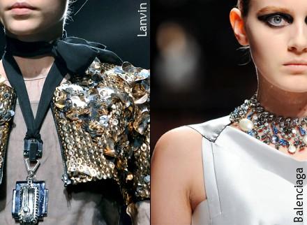 Maxi colliers - Lanvin et Balenciaga