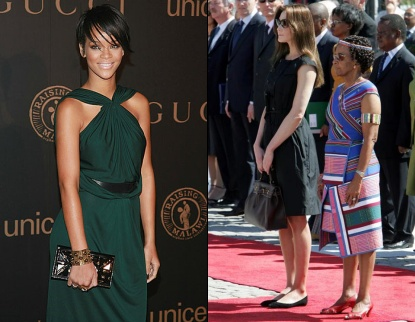 Rihanna et Carla Bruni Sarkozy