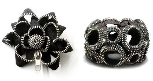 Les bijoux zip de Kate Cusack