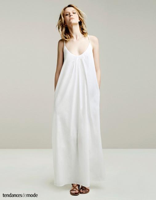 great blog robe robe longue blanche maje. Black Bedroom Furniture Sets. Home Design Ideas