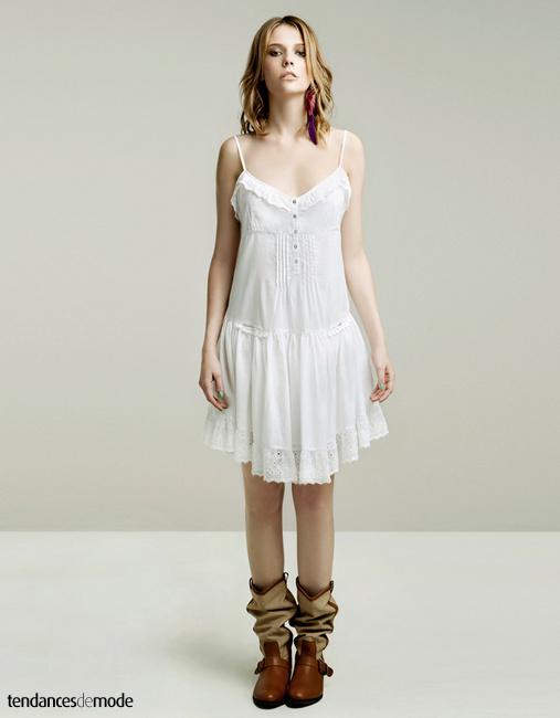 Robe blanche ete zara