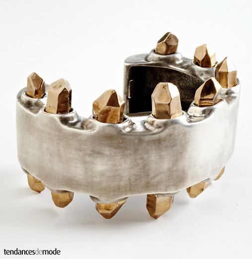 Bracelet métal - fantaisies dorées