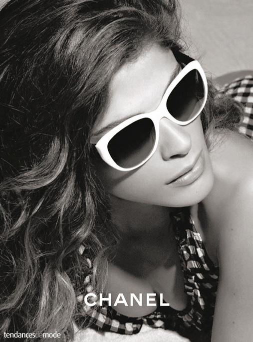 Chanel - lunettes de soleil Cat-eyes - acétate blanc