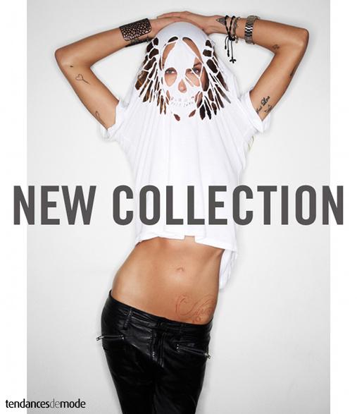 Erin Wasson - tee-shirt blanc loose déchiré - slim en cuir noir - tatouages