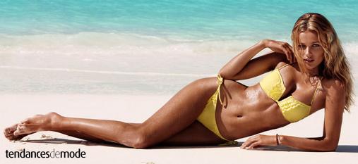 Bikini - volant - jaune canari