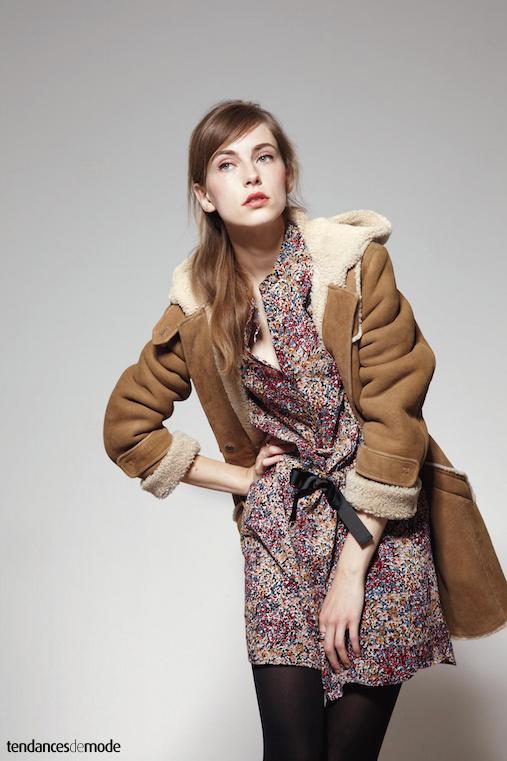 Collection comptoir des cotonniers automne hiver 2011 2012 - Manteau peau lainee comptoir des cotonniers ...