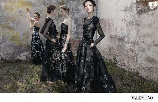 Fei Fei Sun en premier plan de la campagne Valentino printemps/été 2012