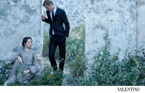 Le mannequin Clément Chabernaud s'invite au sein de la campagne Valentino Printemps/été 2012