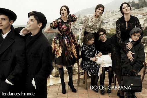 Campagne Dolce & Gabbana - Automne/hiver 2012-2013 - Photo 1