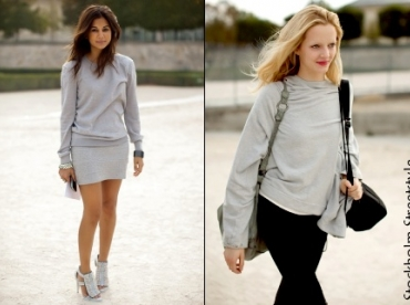 Le sweat gris, must have de l'hiver 2010