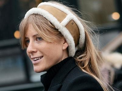 Le bandeau en shearling, une bonne alternative au bonnet !