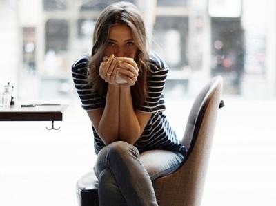 Timberland + slim + tee-shirt ray� + chocolat chaud = le bon mix