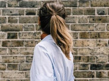 Les fameuses rayures bleues et blanches se marient particuli�rement bien aux robes chemises