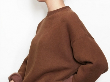 Wanted : un sweat oversize chocolat