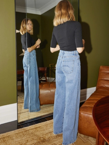 Wanted : un jean flare taille haute !
