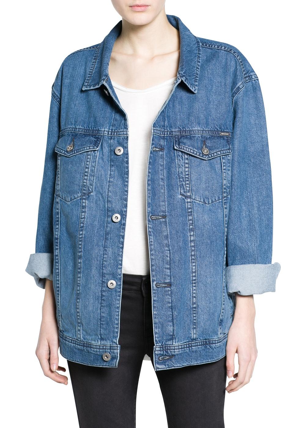 veste en jean oversize tenues base de slim tendances de mode. Black Bedroom Furniture Sets. Home Design Ideas