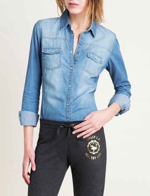 Chemise en jean comment la porter au printemps - Chemise en jean femme comment la porter ...