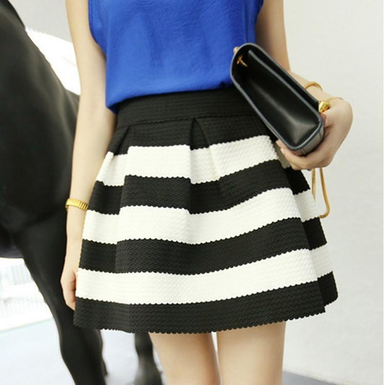 34755ba35e0d Jupe noir et blanc jupe droite longue