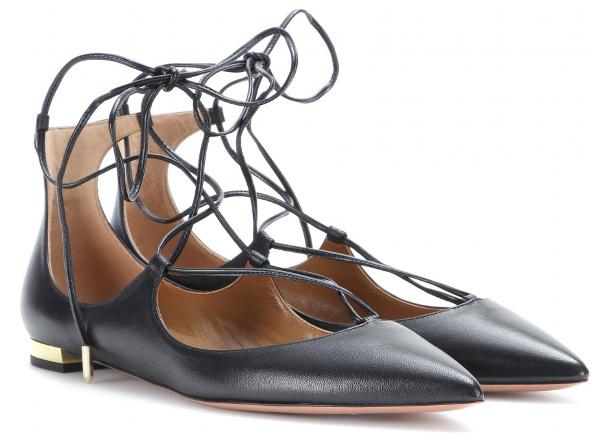 92f83f4141a1f Ballerines à Lacets   Comment Les Porter   - Tendances de Mode