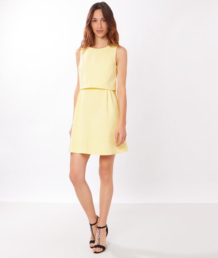 Robe jaune capeline ides de looks pour un mariage for Robe jaune pour mariage