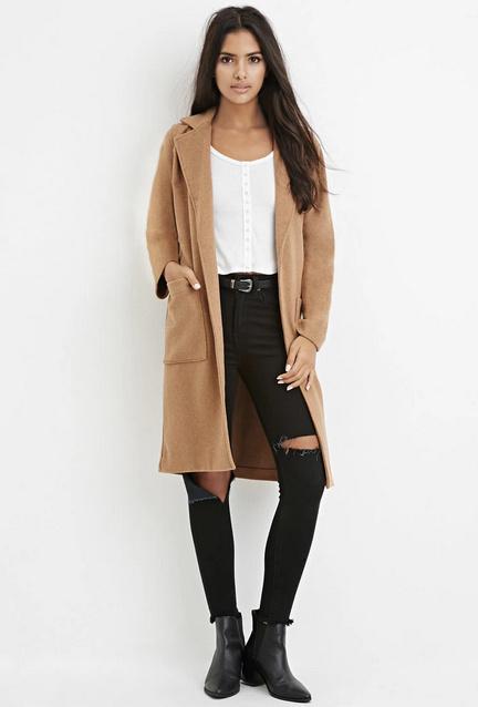 manteau long camel comment l 39 associer tendances de mode. Black Bedroom Furniture Sets. Home Design Ideas