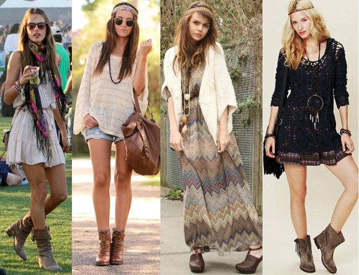 3 tenues hippie chic pour l 39 hiver tendances de mode. Black Bedroom Furniture Sets. Home Design Ideas
