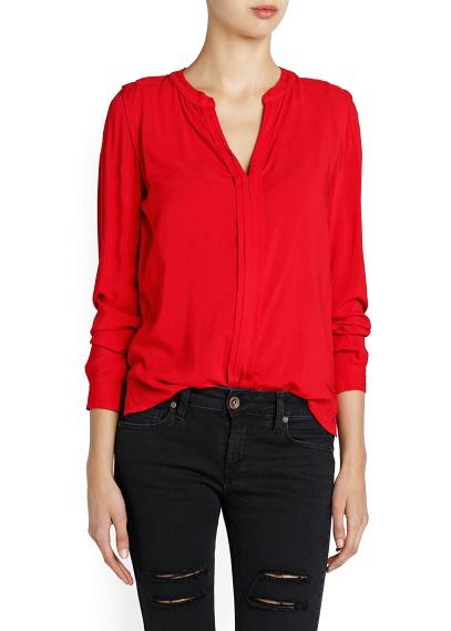chemise rouge comment la porter tendances de mode. Black Bedroom Furniture Sets. Home Design Ideas