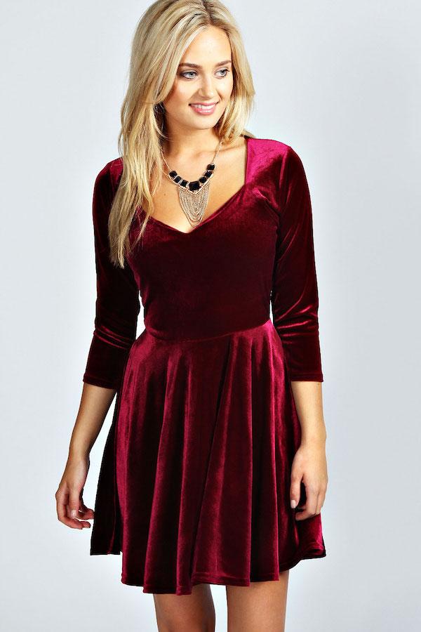 robe rouge comment la porter pour les ftes tendances. Black Bedroom Furniture Sets. Home Design Ideas