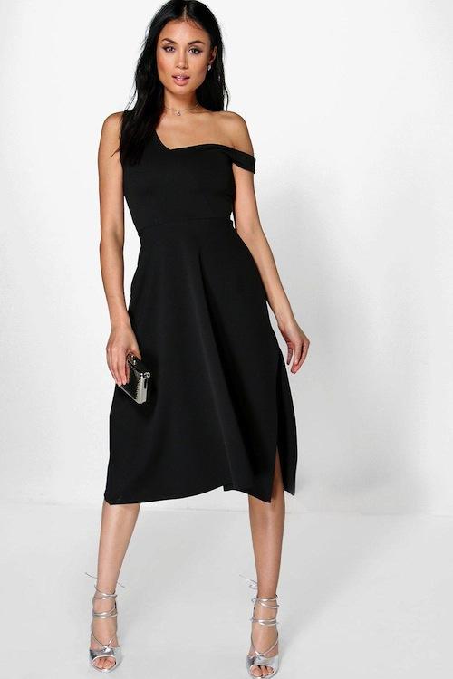 robe patineuse noire avec quoi la porter pour un mariage