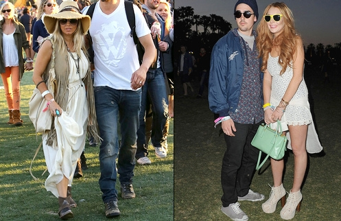 Coachella 2012 - Fergie & Lindsay Lohan