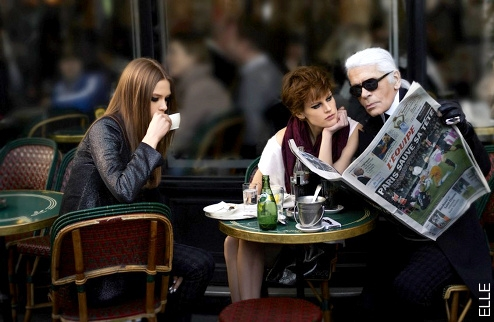 Karl Lagerfeld dans ELLE
