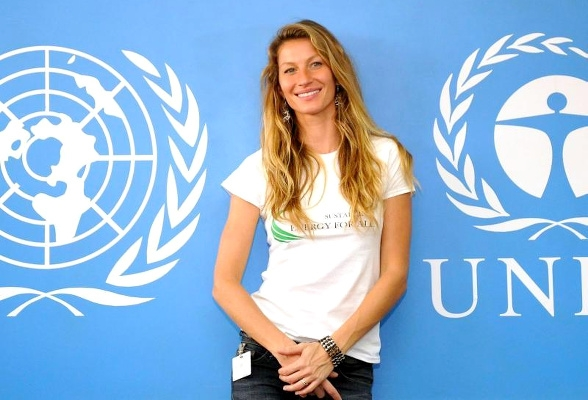 Gisele Bündchen à l'ONU