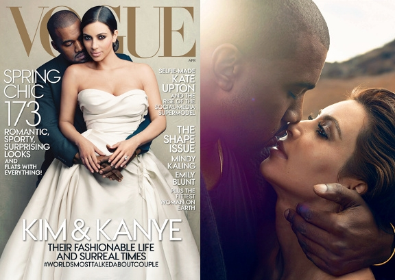Kim Kardashian & Kanye West - Vogue US