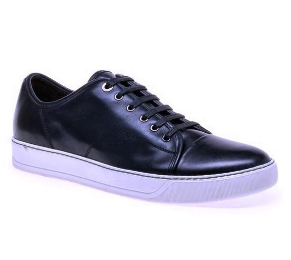 La Sneaker en cuir navy LANVIN