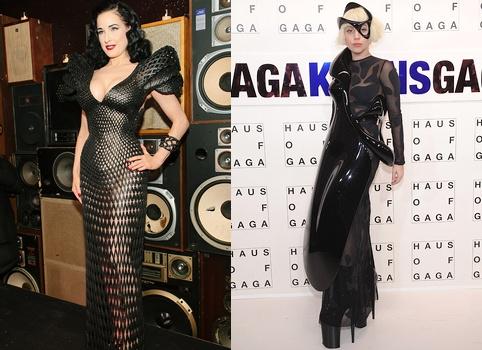 Robes imprim�es en 3D - Dita Von Teese & Lady Gaga