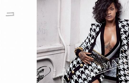 Rihanna chez Balmain