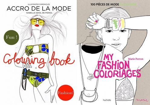 Albums de coloriage fashion