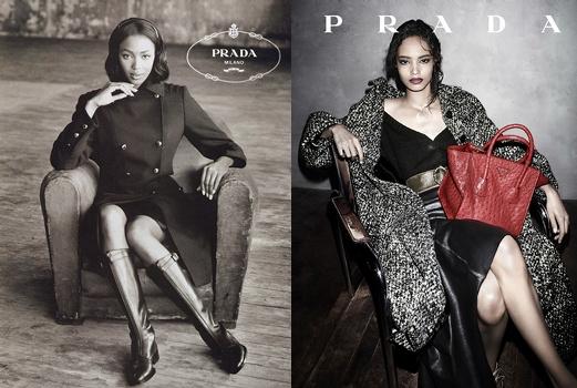 Naomi Campbell & Malaika Firth - Prada
