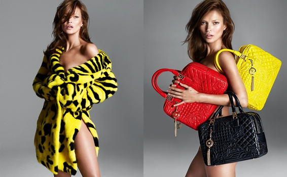 Kate Moss pour Versace