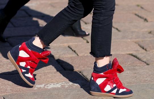 Sneakers compensées Isabel Marant