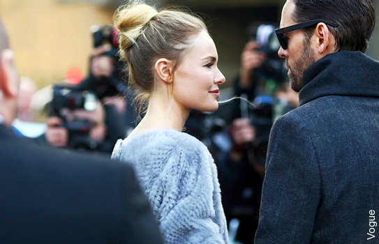Kate Bosworth - Chignon haut